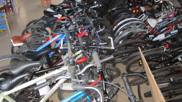 Refurbished bikes and wheelchairs