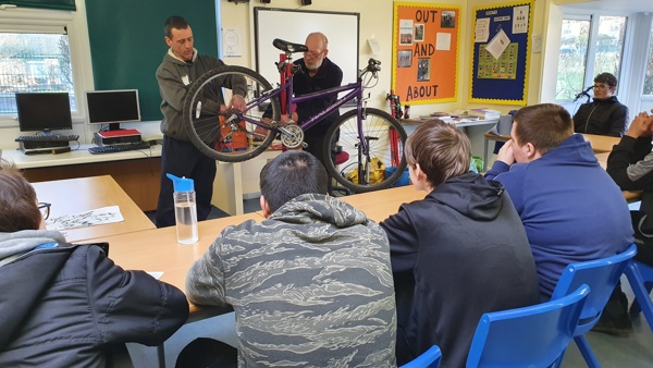Bike Maintenance Session at Greenmeadows School