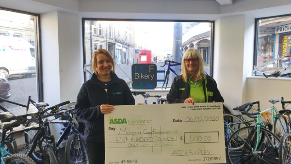 Asda Community Foundation Donation for Shipley Bikery